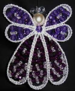 HANDMADE ANGEL BEADED ORNAMENT DECORATION PERFECT GIFT