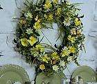 24 inch Daisy Wreath with Butterflies by Valerie Parr Hill