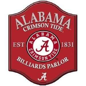 Alabama Crimson Tide Parlor Game Room Wall Sign/Plaque