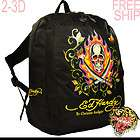 ED HARDY(FREE PENS) KID WATERPROOF SKULLSWORD BOOK BAG AND BACKPACK