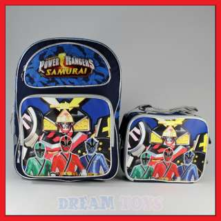 16 Power Rangers Samurai Backpack and Lunch Bag Set L