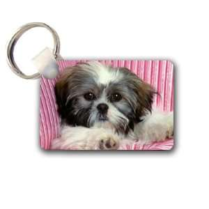 Shih tzu cute puppy Keychain Key Chain Great Unique Gift