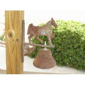 Old West Cast Iron Bell   Horse