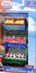 Trackmaster Thomas & Friends Carry Car set Spaghetti & Meatball