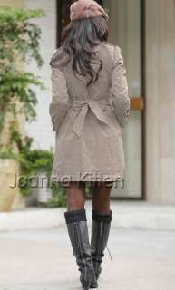 New arrival womens long trench coat cute bowknot jacket onesize