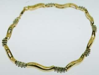 LADIES 14K YELLOW GOLD DIAMOND ESTATE BRACELET 113204