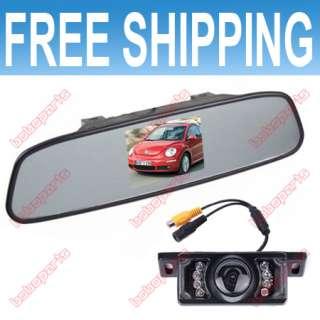 LCD VEHICLE REAR VIEW MIRROR MONITOR CAR CAMERA SET