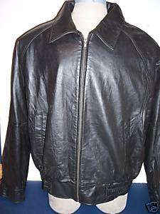 NWT $199 MENS BLACK LAMBSKIN LEATHER HIPSTER JACKET M