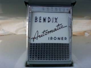 VINTAGE BENDIX AUTOMATIC IRONER CLOTHES PRESS GREAT CONDITION