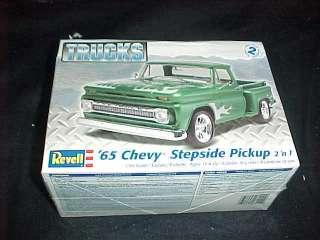 Revell 65 Chevy STEPSIDE PickUp truck 2n1 plastic Model Kit level 2