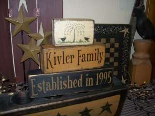PRIMITIVE CUSTOM BLOCK SIGN~~FAMILY NAME~WILLOW~~CROW~~