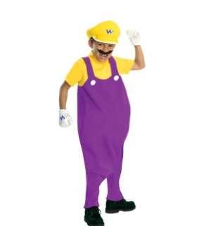 Super Mario Bros Deluxe Wario Costume Child Large *New*