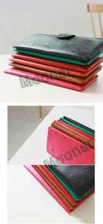 Korean Style Women PU Leather Lady Wallet Coins card Purse Bag