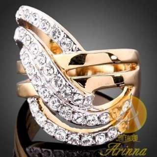 Arinna multi sets fashion finger Ring Gold plated GP 18k Swarovski