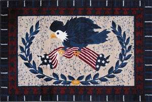 United States American Eagle Flag Plush Nylon Area Rug