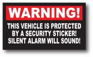 Warning Sticker Decal Security Silent Alarm Sound Car
