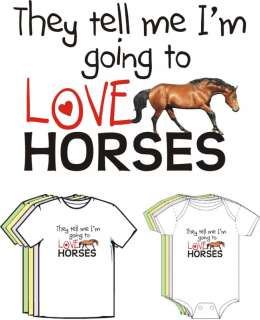Baby Will Love HORSES Cute Funny Baby BOY GIRL Clothes