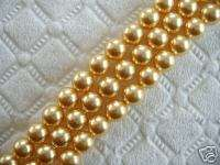 50 SWAROVSKI CRYSTAL Gold Pearls 5mm Loose Beads 5810