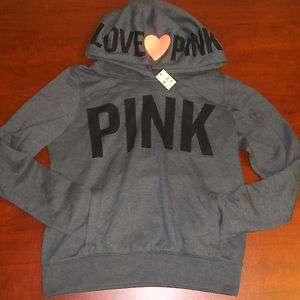 Victorias Secret LOVE PINK HEART HOOD V025 PULLOVER HOODIE Sweatshirt