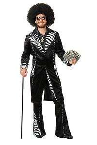 zebra PIMP jacket pants adult mens halloween costume M