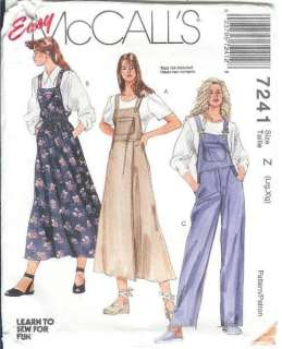 Sewing Pattern Misses Womens Plus Size Full Figure XLG McCalls