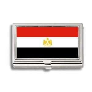 Egypt Egyptian Flag Business Card Holder Metal Case
