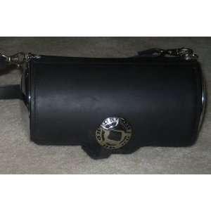 Authentic Harley Davidson Black Shoulder Bag with Chrome
