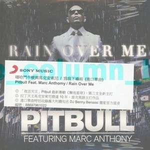 Rain Over Me (2011) CD w/sticker MARC ANTHONY BENNY BENASSI