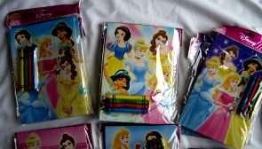 12 set LICENSED Disney Character Coloring Book & Crayon