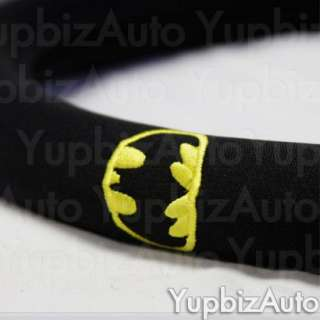 11PC Batman Logo Car Seat Covers Steering Wheel Set NEW