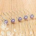 20pcs Wedding Bridal Prom Jewelry Orange Pearl Hair Accessories Pins