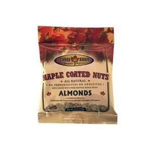Dennis Farms Almonds, Maple Coated 4 OZ (Pack of 8)