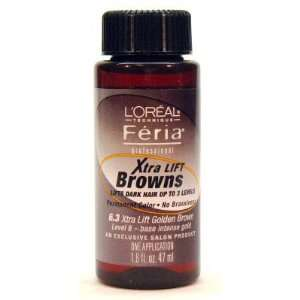 Loreal Feria Xtra Lift Browns #6.3 Golden Brown 1.6oz Beauty