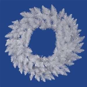 2 ft. PVC Christmas Wreath   Sparkle White   Spruce   110