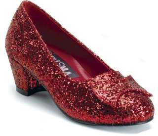 Kids Wizard of Oz Dorothy Ruby Slippers Red Shoes 885487351315