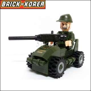 Bricks Block Building Toys Minifigures 830 Army Series set   Small