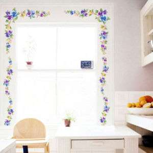 Pansy Flower Art Adhesive Wall STICKER Removable Decal
