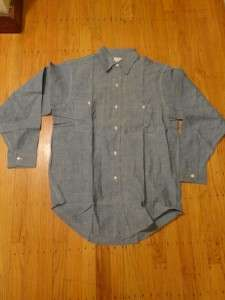 BIG MAC PENNEYS SANFORIZED CHAMBRAY WORKWEAR SHIRT 1960S |