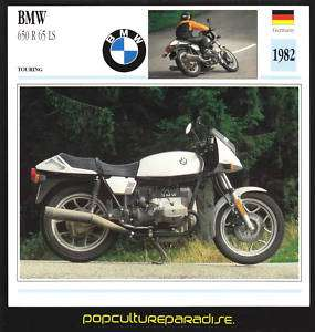 1982 BMW 650 R 65 LS R65LS MOTORCYCLE Picture SPEC CARD