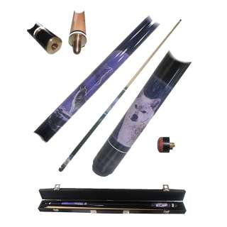 Wolf Billiard Wood 2 Piece Pool Cue Stick + Case 874959001681