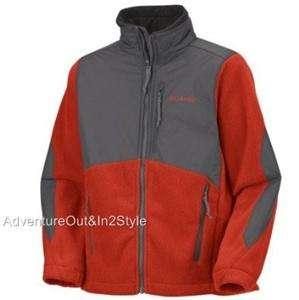 Columbia Sportswear Ballistic Boys Fleece Jacket 14 16 YOUTH FLAME