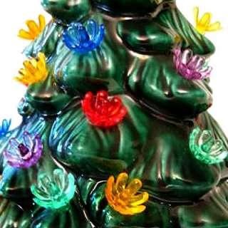 VINTAGE CERAMIC CHRISTMAS TREE LIGHTS 25 FLOWER BULBS