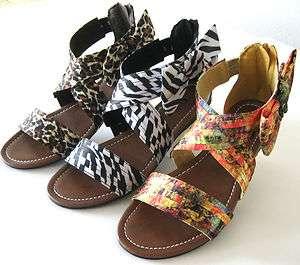 Womens Animal Print Flat Shoes Gladiator Leopard Zebra Strap Sandal