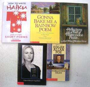 Lot of 5 Poetry Poem Haiku Edgar Allan Poe Books