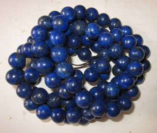 Tibetan Buddhist Lapis Lazuli Prayer Worry Beads Mala 12mm