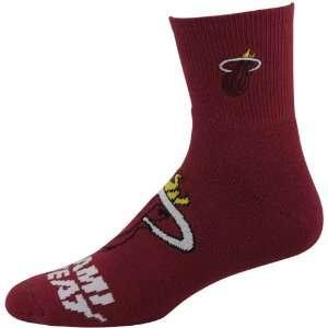 NBA Miami Heat 2012 Big Logo Sock   Deep Red Sports