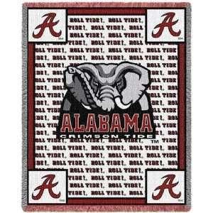 Alabama Crimson Tide Roll Tide Throw 48 x 69