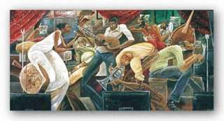 AFRICAN AMERICAN ART Red Hot On Cool by Frank Morrison