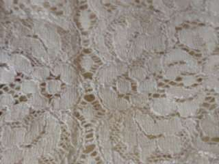 Delicate Ivory Lace Runners Doilies Machine Embroidered 13 x 41