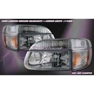 Ford Explorer Headlights Euro Chrome Headlights With Corner 1995 1996